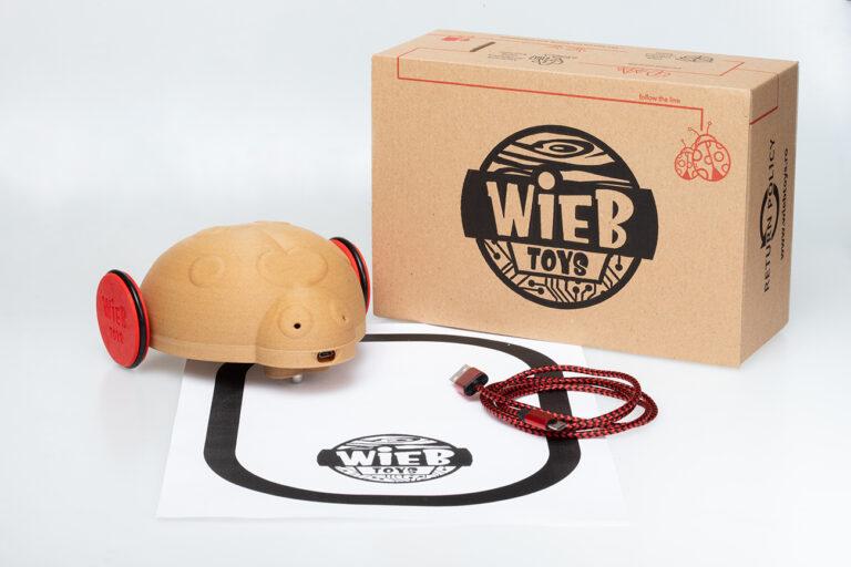 Cutie gargarita Wieb Toys cu produs in exterior